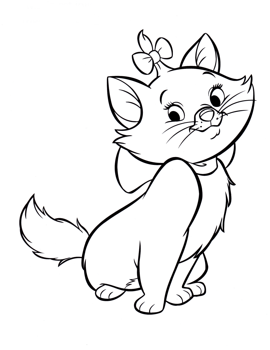 Walt Disney Coloring Pages - Marie - Walt Disney ...   colouring pages disney characters