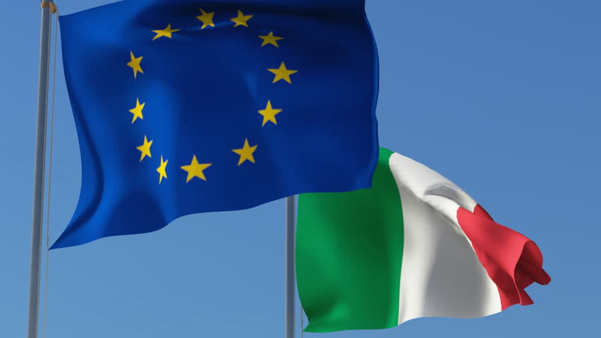 Image result for Italy, EU, Flags, pictures