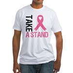 TakeAStand Breast Cancer Fitted T-Shirt