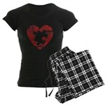 PIECE OF MY HEART Women's Dark Pajamas