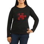 MY MISSING PIECE Women's Long Sleeve Dark T-Shirt