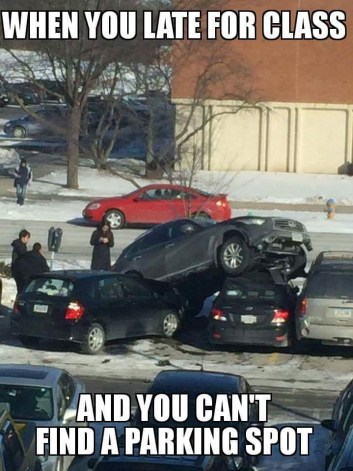 Image result for college parking gif funny