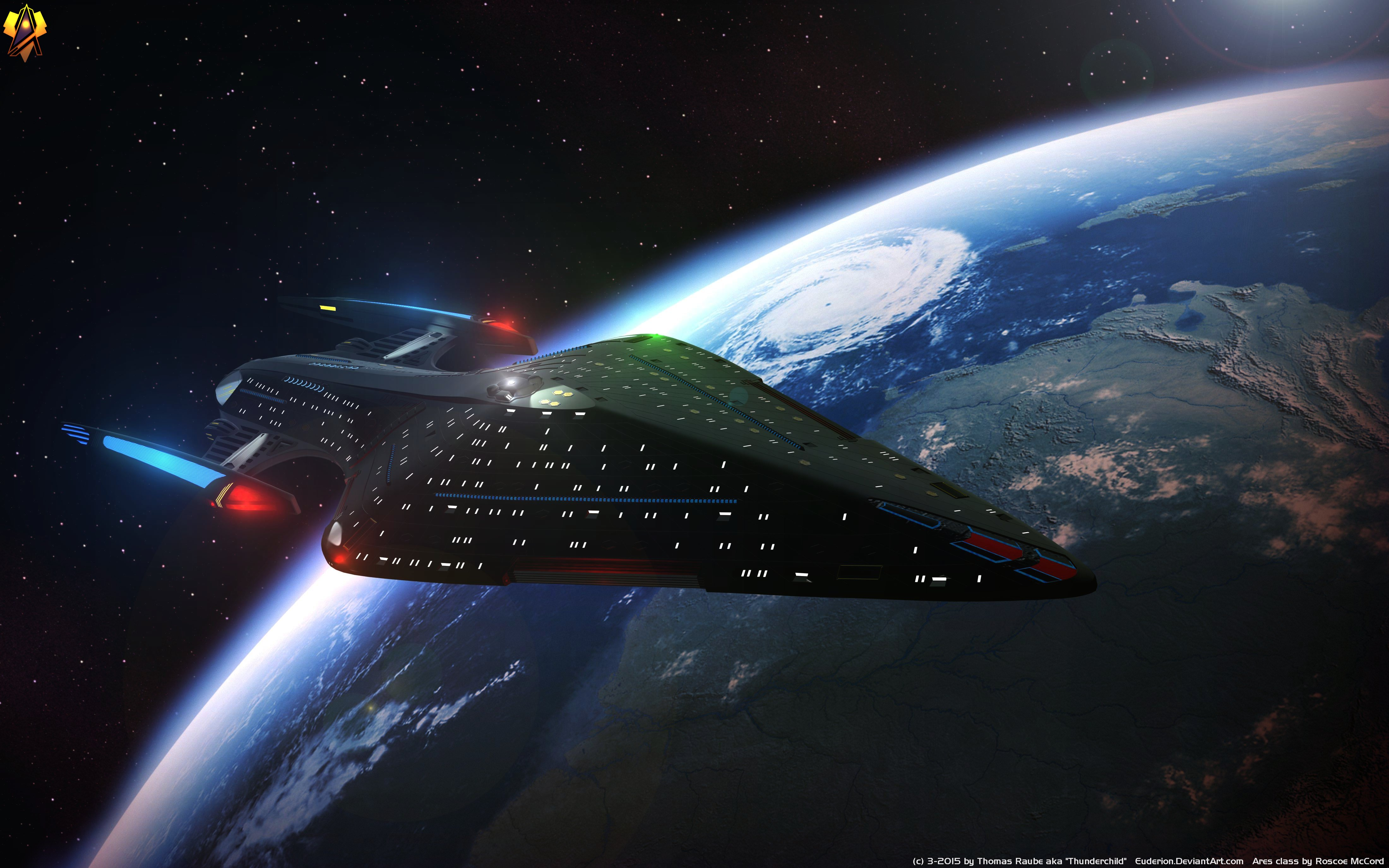 25 Th Century Ares Class 4k Ultra Hd Wallpaper