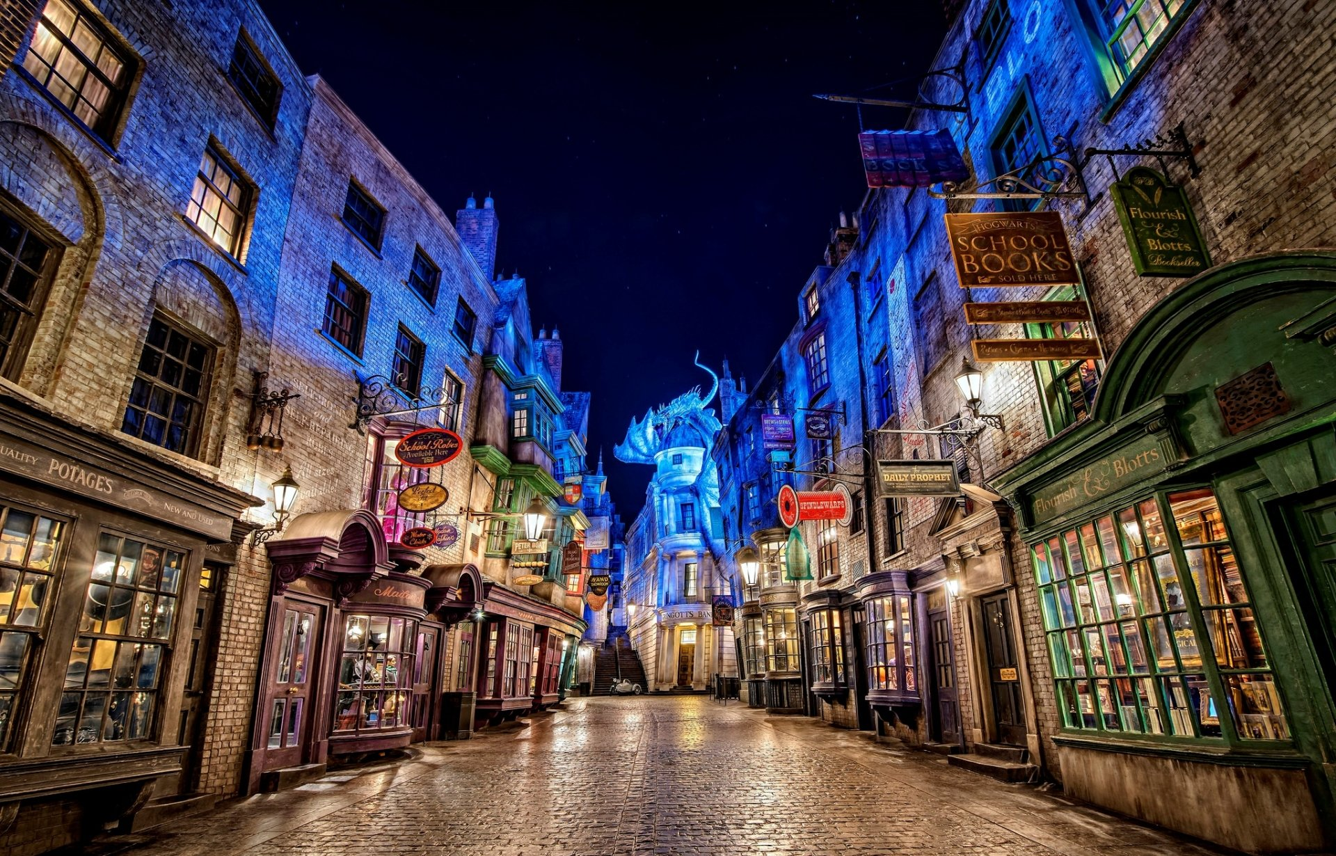 Diagon Alley From Harry Potter At Universal Studios HD