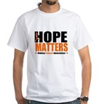Hope Matters Kidney Cancer White T-Shirt
