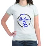ColonCancerBelieve Jr. Ringer T-Shirt