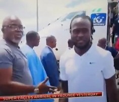 Image result for Musa, Moses deny snubbing Pinnick as video goes viral