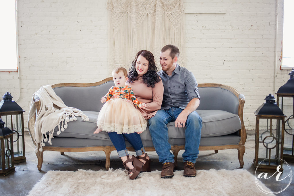 Images by Amber Robinson | Raleigh Wedding Photographer | Fall Mini Session | Baby on parent's lap