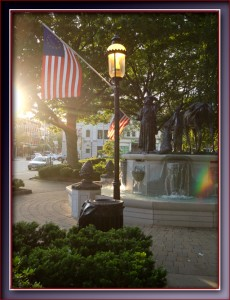US flag Morristown The Green Memorial Day