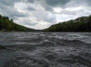 Delaware Water Gap, kayak, white water, clouds