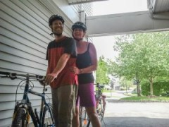 David, Claudia, bikes, Oakridge
