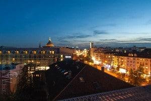 Mannheim, watertower, night