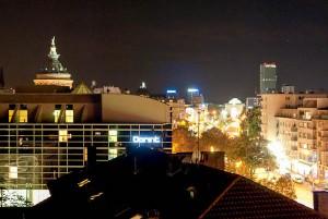 Mannheim Watertower at night