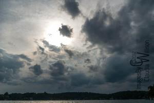 Dramatic sky, sun, clouds