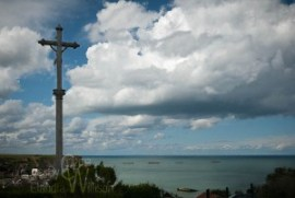 cross, Arromanches Les Bains, Normandy France, dday