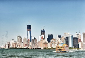 world trade center, skyline, NYC, ferry