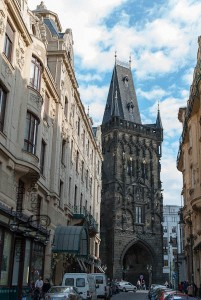 Prague, old town, powder gate, tower