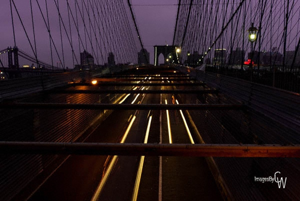 Brooklyn Bridge, night