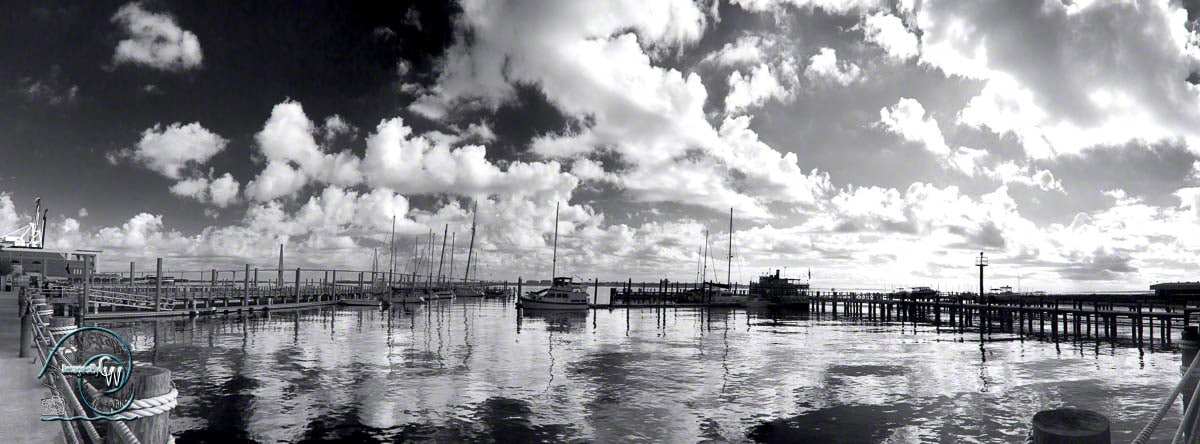 Charleston Panorama b&w fine art photography