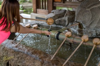 Traditionally Temples in Japan have at least one water fountain were the traveller can cool down from the heat, I believe this is both physically and spiritually.