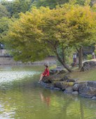 My muse and I had the amazing experience to visit this Park. A beautiful place to admire temples and nature! My favorite 85mm lens for portraits, did a great job. Nara, Japan.