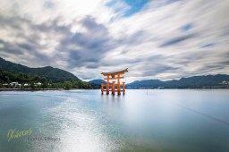 This Great Shrine gave me a unique subject for my long exposure photography. Standing tall and impressive against the movement of clouds and water during high tides. Miyajima Island, Hiroshima, Japan.