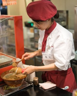 Freshly produced Sesame Icecream, Kyoto Market, Japan