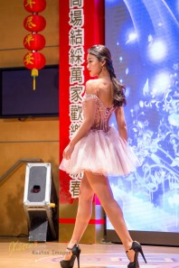 Model at a beauty show during CNY celebration in Splendid Mall, Markham, Toronto