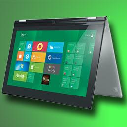 Gli ultrabook fanno rete. Nella foto il nuovo IdeaPad Yoga di Lenovo