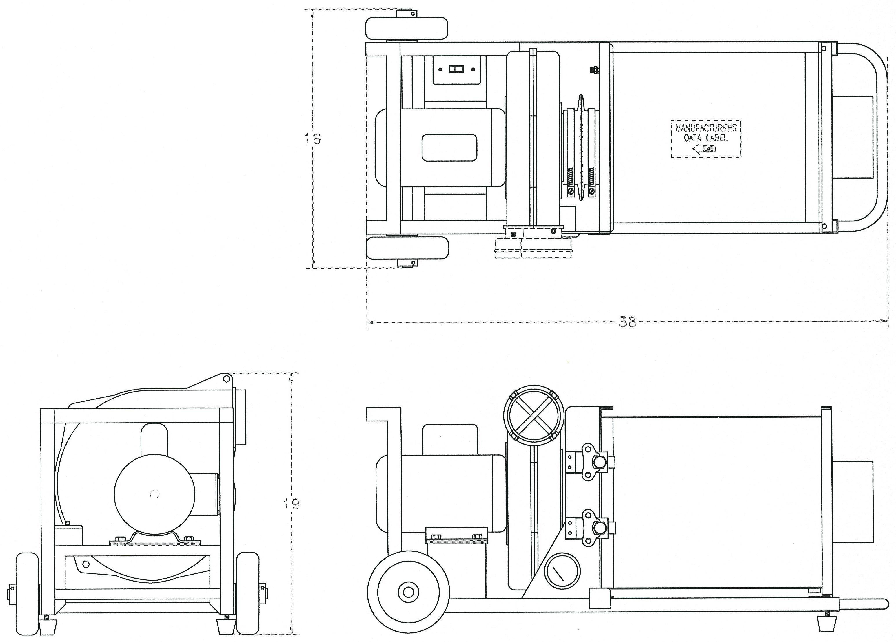515cfm Sp 505a Fm34 Portable Hepa Filtration Unit Csa Approved Ventilation Unit