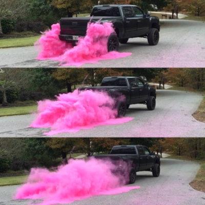 gender reveal smoke powder march
