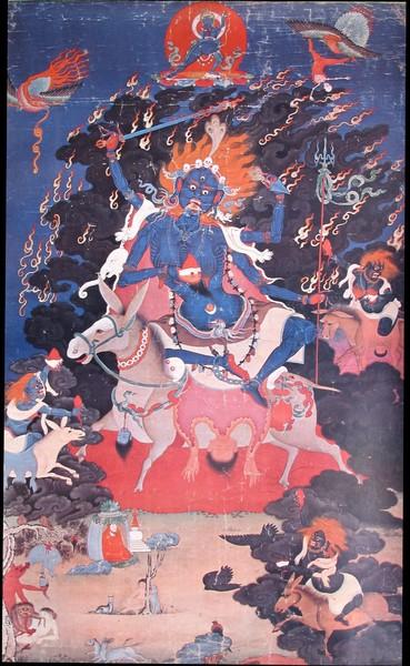 Palden Lhamo, déesse protectrice des Dalaï-lama © Himalayanart.com