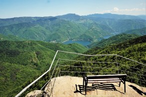поглед от Бекови скали към язовир Въча / view from Bekovi skali to Vacha dam