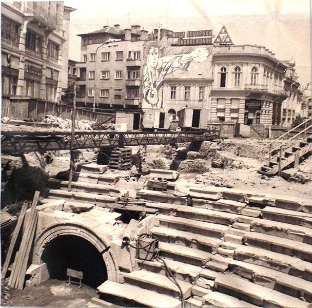 Разкриване на античния стадион / Excavations at the ancient stadium in Plovdiv