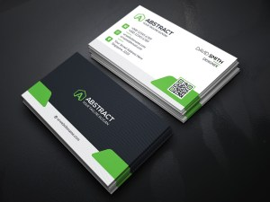 High Quality Business Card Template Green