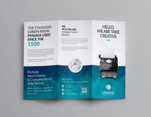 Ocean Corporate Tri-Fold Brochure Templates