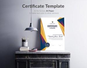 Portrait Certificate Template