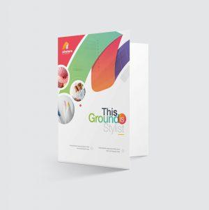Rainbow Elegant Presentation Folder Template
