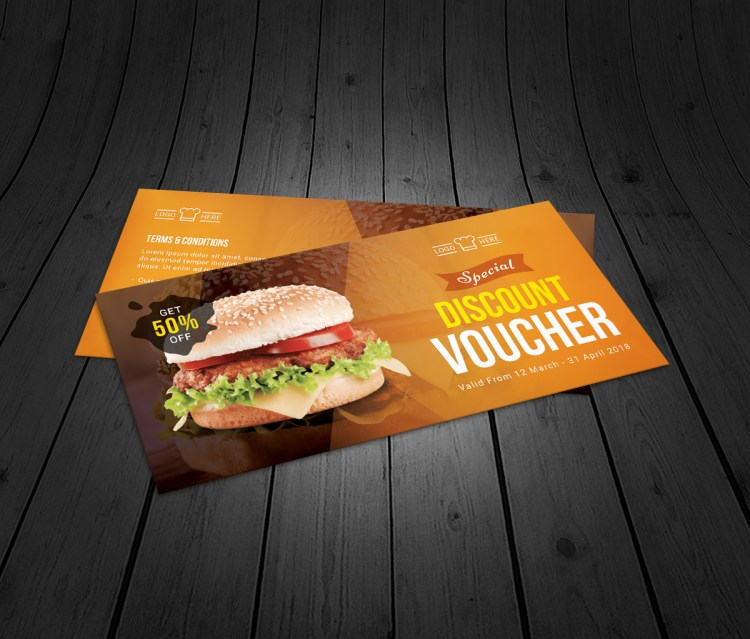 Restaurant Corporate Gift Voucher Template