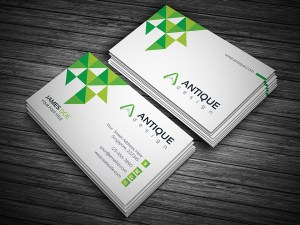 Stylish White Visiting Card Template