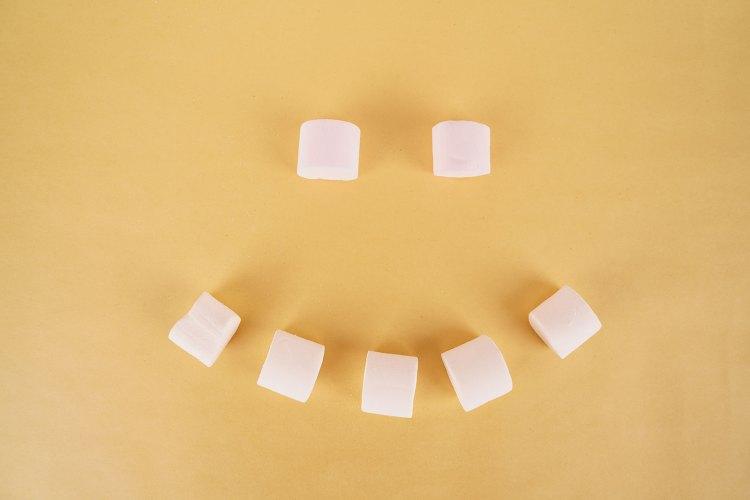Emoji from sweet marshmallow
