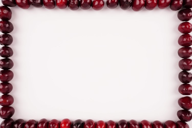 Stock photo frame from cherries