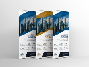 Vector Roll Up Banner Template