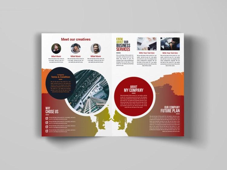 Art Bi Fold Brochure Design