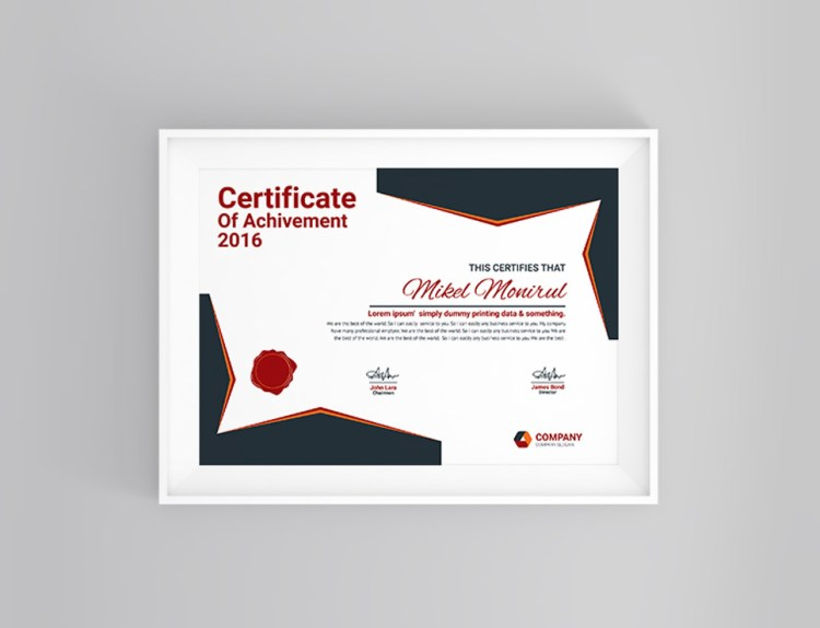 Classy Certificate Template