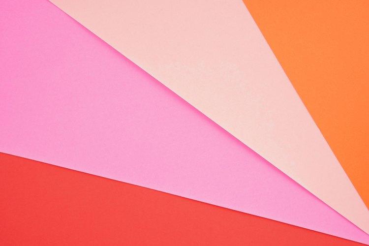 Colorful geometric composition photo