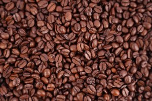 Espresso coffee beans stock photo