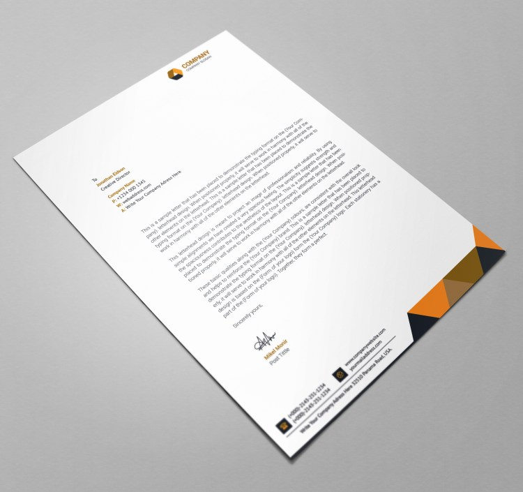 Executive Letterhead Design Template