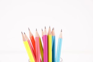 Isolated pencils stock photo