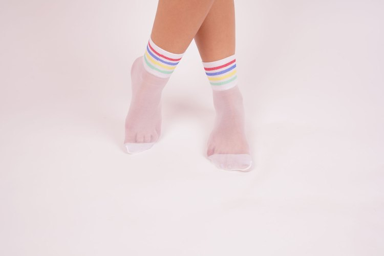 Legs of beautiful young woman